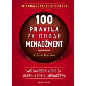 knjiga 100 pravila za dobar menadžment prodaja knjižara miba books
