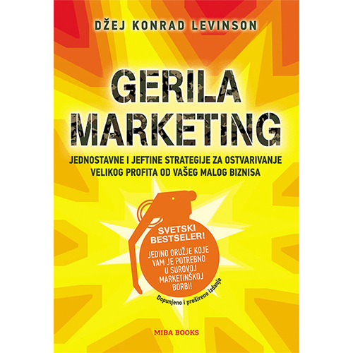knjiga Gerila marketing prodaja knjižara miba books